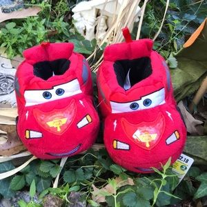 Disney Pixar Cars Lightning McQueen Plush Slippers